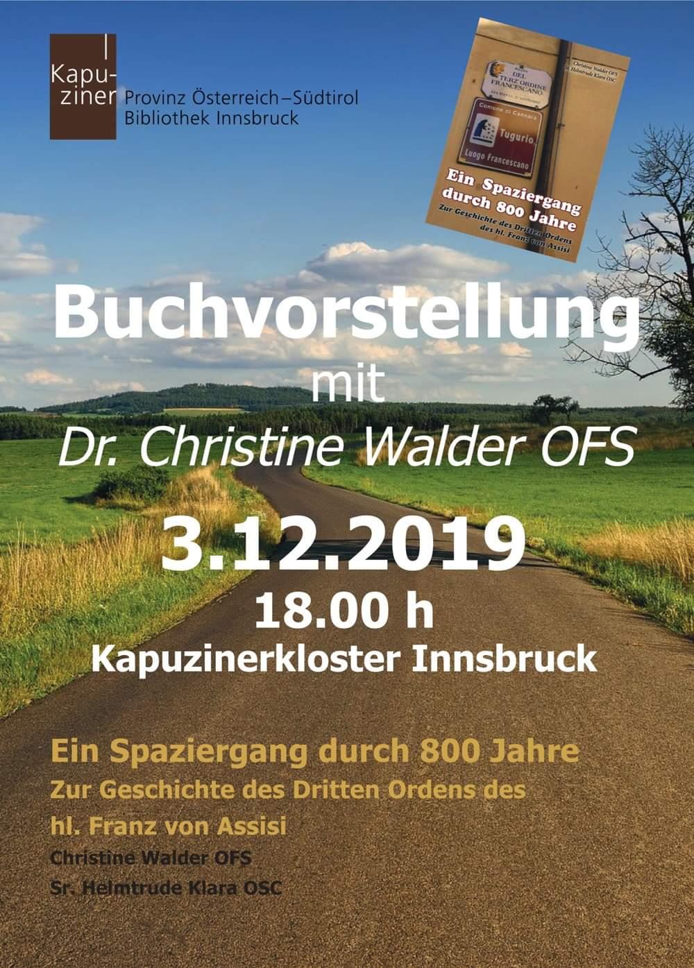 OFS | Ordo Franciscanus Saecularis Österreich | Buchvorstellung_Dezember_2019